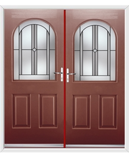 Kentucky French Rockdoor in Ruby Red with Ellipse