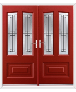 Illinois French Rockdoor in Ruby Red with Empire