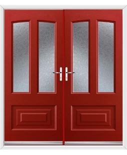 Illinois French Rockdoor in Ruby Red with Gluechip Glazing
