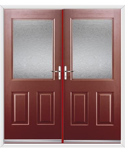 Windsor French Rockdoor in Ruby Red with Gluechip Glazing