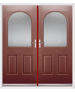 Kentucky French Rockdoor in Ruby Red with Gluechip Glazing