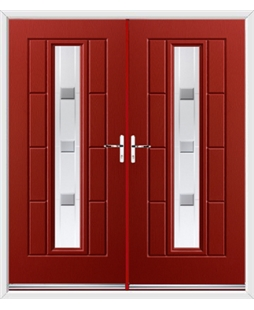 Vermont French Rockdoor in Ruby Red with Grey Shades