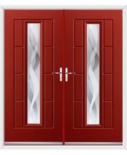 Vermont French Rockdoor in Ruby Red with Haze