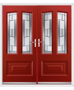 Illinois French Rockdoor in Ruby Red with Inspire