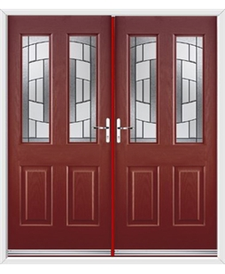Jacobean French Rockdoor in Ruby Red with Inspire