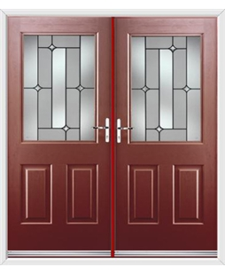 Windsor French Rockdoor in Ruby Red with Linear