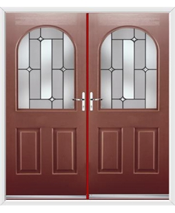 Kentucky French Rockdoor in Ruby Red with Linear