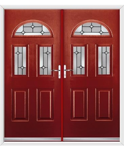 Tennessee French Rockdoor in Ruby Red with Linear