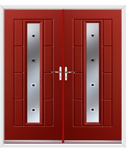 Vermont French Rockdoor in Ruby Red with Quadra