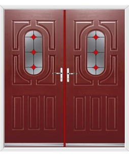 Arcacia French Rockdoor in Ruby Red with Red Diamonds
