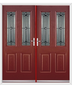 Jacobean French Rockdoor in Ruby Red with Scorpio
