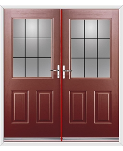 Windsor French Rockdoor in Ruby Red with Square Lead