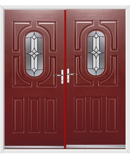 Arcacia French Rockdoor in Ruby Red with Summit
