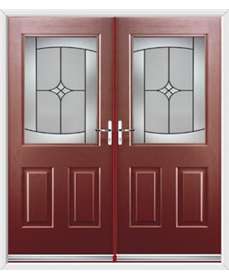 Windsor French Rockdoor in Ruby Red with Summit