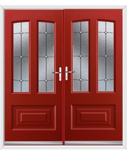 Illinois French Rockdoor in Ruby Red with Trinity