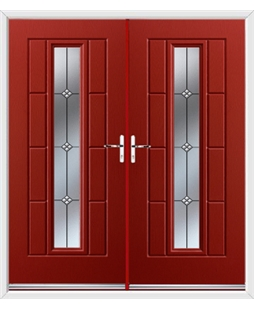 Vermont French Rockdoor in Ruby Red with Trio
