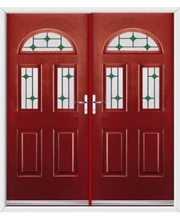 Tennessee French Rockdoor in Ruby Red with Green Diamonds