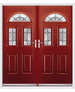 Tennessee French Rockdoor in Ruby Red with Ellipse