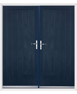 Indiana French Rockdoor in Sapphire Blue