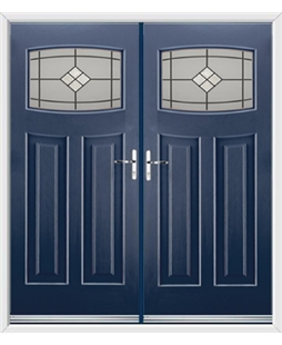 Newark French Rockdoor in Sapphire Blue with Bright Star Glazing