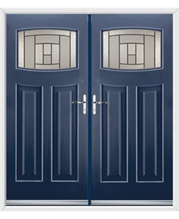 Newark French Rockdoor in Sapphire Blue with Citadel Glazing