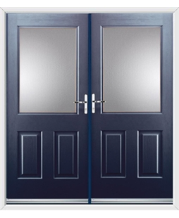 Windsor French Rockdoor in Sapphire Blue with Glazing