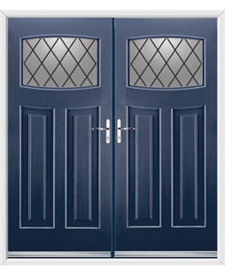 Newark French Rockdoor in Sapphire Blue with Diamond Lead