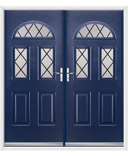 Tennessee French Rockdoor in Sapphire Blue with Diamond Lead