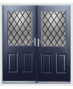 Windsor French Rockdoor in Sapphire Blue with Diamond Lead