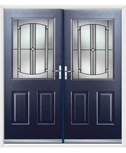 Windsor French Rockdoor in Sapphire Blue with Ellipse