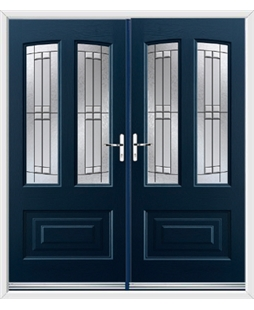 Illinois French Rockdoor in Sapphire Blue with Empire
