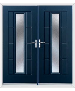 Vermont French Rockdoor in Sapphire Blue with Gluechip Glazing