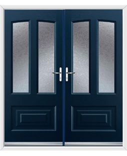 Illinois French Rockdoor in Sapphire Blue with Gluechip Glazing