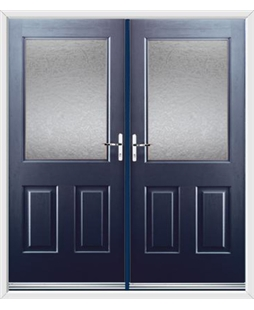 Windsor French Rockdoor in Sapphire Blue with Gluechip Glazing