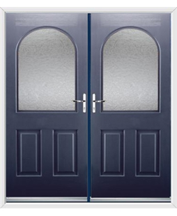 Kentucky French Rockdoor in Sapphire Blue with Gluechip Glazing