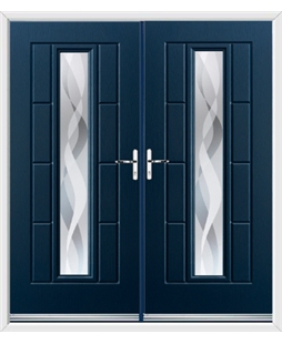 Vermont French Rockdoor in Sapphire Blue with Haze