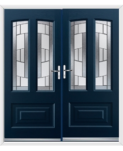 Illinois French Rockdoor in Sapphire Blue with Inspire