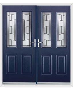 Jacobean French Rockdoor in Sapphire Blue with Inspire