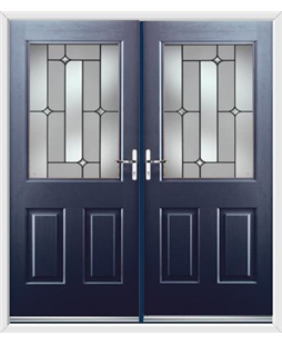 Windsor French Rockdoor in Sapphire Blue with Linear