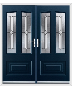 Illinois French Rockdoor in Sapphire Blue with Pinnacle