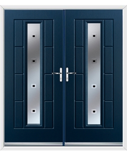 Vermont French Rockdoor in Sapphire Blue with Quadra