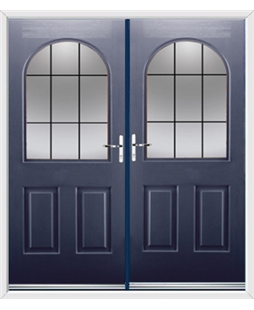 Kentucky French Rockdoor in Sapphire Blue with Square Lead