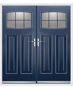 Newark French Rockdoor in Sapphire Blue with Square Lead