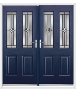 Jacobean French Rockdoor in Sapphire Blue with Summit