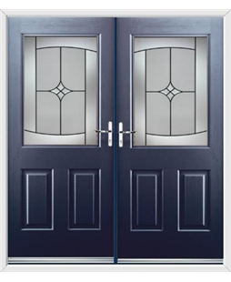 Windsor French Rockdoor in Sapphire Blue with Summit
