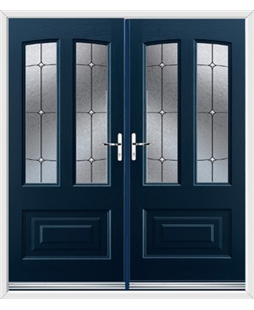 Illinois French Rockdoor in Sapphire Blue with Trinity
