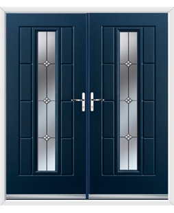Vermont French Rockdoor in Sapphire Blue with Trio
