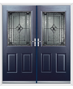 Windsor French Rockdoor in Sapphire Blue with Triton Glazing