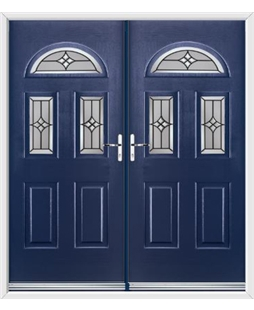 Tennessee French Rockdoor in Sapphire Blue with Summit