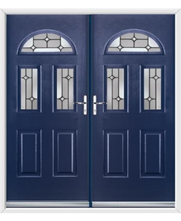 Tennessee French Rockdoor in Sapphire Blue with Linear